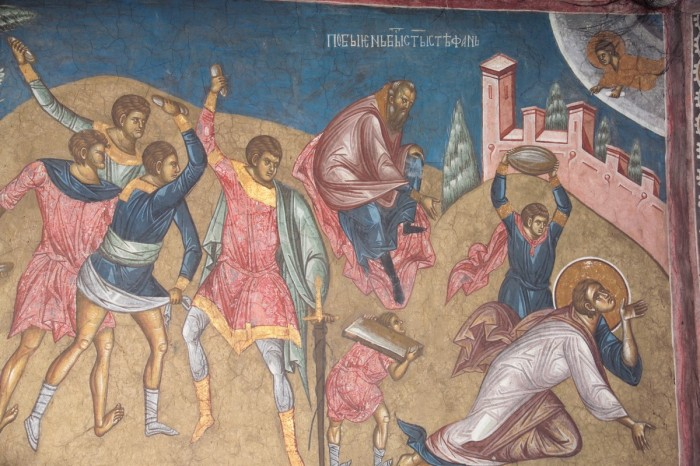 St. Stephen the Protomartyr being stoned